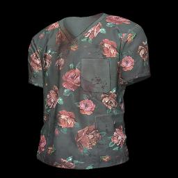跳伞求生:KOTK 饰品交易-Flower Print Scrubs Shirt