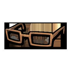 绝地求生(吃鸡) 饰品交易-Horn-rimmed Glasses (Brown)