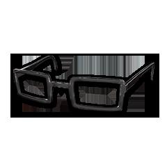 绝地求生(吃鸡) 饰品交易-Horn-rimmed Glasses (Black)