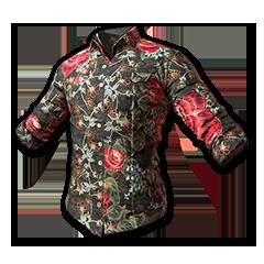 绝地求生(吃鸡) 饰品交易-Floral Shirt (Black)