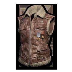 绝地求生(吃鸡) 饰品交易-Sleeveless Biker Jacket (Brown)