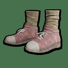 绝地求生(吃鸡) 饰品交易-Hi-top Canvas Sneakers (Pink)