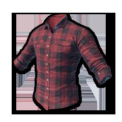 绝地求生(吃鸡) 饰品交易-Checked Shirt (Red)