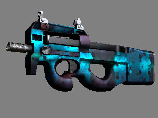 CS:GO 饰品交易-P90(StatTrak™) | 深蓝组件 (略有磨损)