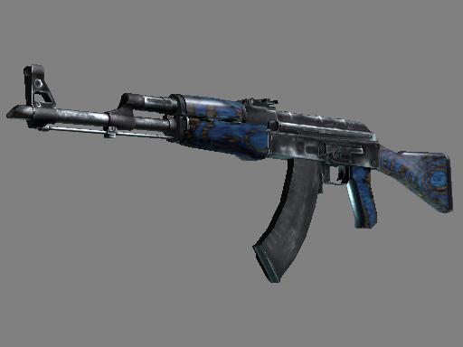csgo 饰品交易-AK-47(StatTrak™)   蓝色层压板 (久经沙场)