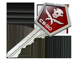 csgo 饰品交易-弯曲猎手武器箱钥匙