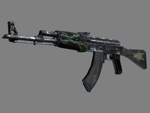 csgo 饰品交易-AK-47 | 翡翠细条纹 (略有磨损)