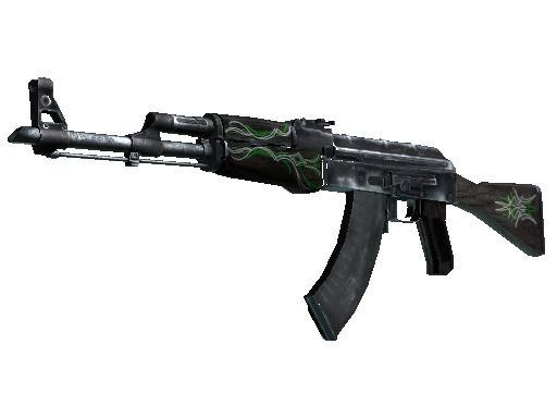 csgo 饰品交易-AK-47 | 翡翠细条纹 (久经沙场)