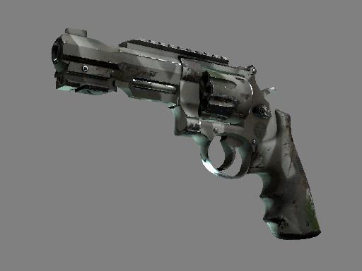 csgo 饰品交易-R8 左轮手枪 | 骸骨外罩 (破损不堪)
