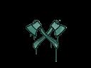 CS:GO 饰品交易-封装的涂鸦   双斧 (暗绿)