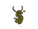 CS:GO 饰品交易-封装的涂鸦 | 美元项链 (草绿)