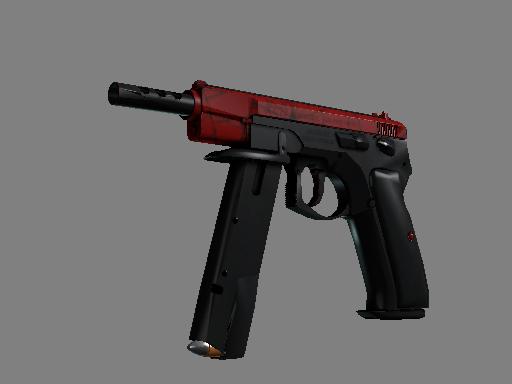 csgo 饰品交易-CZ75 自动手枪   深红之网 (略有磨损)