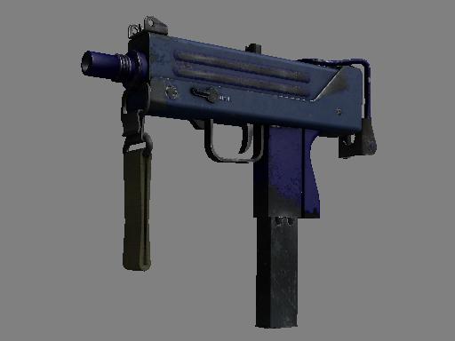 csgo 饰品交易-MAC-10(纪念品) | 紫青之色 (破损不堪)