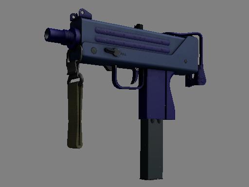 csgo 饰品交易-MAC-10(纪念品) | 紫青之色 (略有磨损)