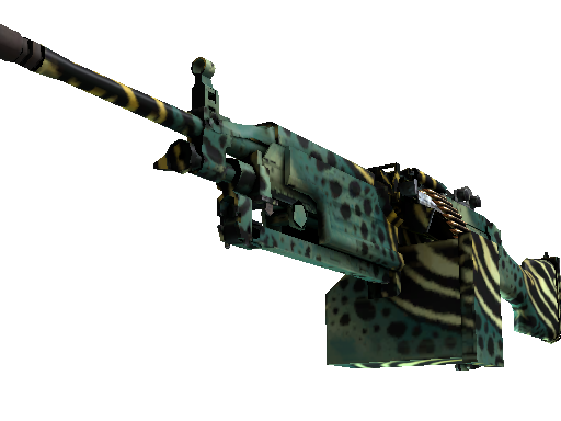 csgo 饰品交易-M249 | 翠绿箭毒蛙 (略有磨损)