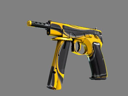 csgo 饰品交易-CZ75 自动手枪   黄夹克 (略有磨损)