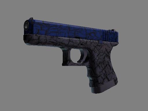 csgo 饰品交易-格洛克 18 型(StatTrak™) | 蓝色裂纹 (略有磨损)