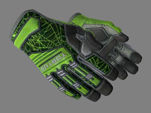 csgo 饰品交易-专业手套(★) | 翠绿之网 (略有磨损)