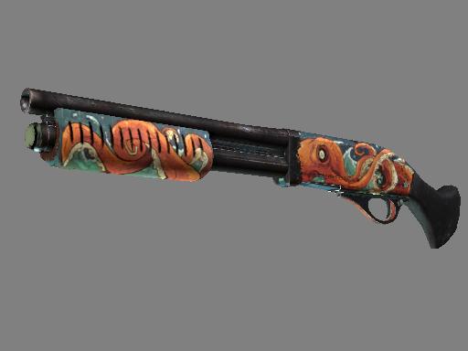 csgo 饰品交易-截短霰弹枪   北海巨妖 (久经沙场)