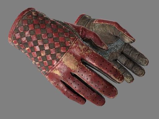 csgo 饰品交易-驾驶手套(★) | 深红织物 (战痕累累)