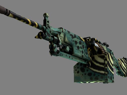 csgo 饰品交易-M249(StatTrak™) | 翠绿箭毒蛙 (略有磨损)