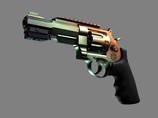 CS:GO 饰品交易-R8 左轮手枪   渐变琥珀 (略有磨损)