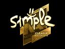 csgo 饰品交易-印花 | s1mple(金色)| 2018年波士顿锦标赛