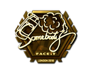 csgo 饰品交易-印花 | somebody (Gold) | London 2018